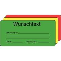 Großformat-Papieretiketten zur Qualitätssicherung mit Wunschtext, auf Rolle