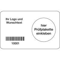 Grundplakette mit Barcode, individuell