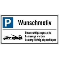 Parkplatz-Schilder mit Abschleppsymbol, individuell, Aluminium
