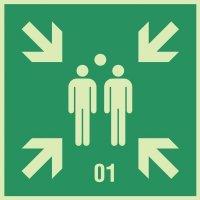 Sammelstelle-Dreiecke mit Zeichen nach Wunsch