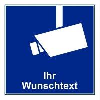 Video-Symbol-Schilder mit Text nach Wunsch
