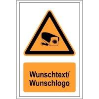 Videokennzeichnungs-Kombi-Schilder mit Text und Design nach Wunsch, Großformat