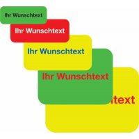 Rollen-Etiketten aus PVC-Folie mit Text und Logo nach Wunsch, rechteckig, fluoreszierend