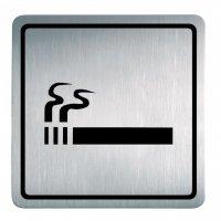 """Edelstahl-Symbol-Schilder """"Rauchen gestattet"""""""