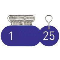 Anhänger für Schlüsselmarken-Systeme aus eloxiertem Aluminium, nummeriert