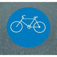 Radweg - Asphaltfolie zur Straßenmarkierung, R10 nach DIN 51130/ASR A1.5/1,2