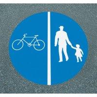 Getrennter Rad- und Gehweg - PREMARK Straßenmarkierungen, Verkehrszeichen