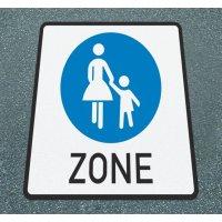 Beginn einer Fußgängerzone - Asphaltfolie zur Straßenmarkierung, R10 nach DIN 51130/ASR A1.5/1,2