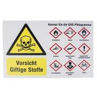 Warnung vor giftigen Stoffen – Sicherheitshinweise GHS-Piktogramme