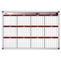 Bi-Office Jahresplanungstafel mit 12-Monats-Raster, magnetisch