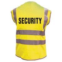 """Warnwesten mit """"SECURITY"""" Standardtext, EN ISO20471:2013"""