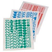 Buchstaben und Ziffern aus Folie, Zeichenkombinationen