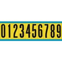 Buchstaben und Ziffern aus Baumwollgewebe (vinylbeschichtet), wiederablösbar, Zeichenkombinationen, Einzelkarten