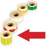 Papier-Pfeile, beschriftbar, auf Rolle