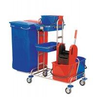 Reinigungswagen, Kunststoff/Stahl