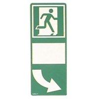 Everglow® Türgriffhinterlegung - Fluchtwegkennzeichnung, bodennah, langnachleuchtend, ASR A3.4/3