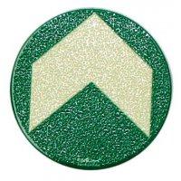 Everglow® Bodenmarkierungspfeile, rund - Boden-Fluchtwegkennzeichnung, langnachleuchtend, ASR A3.4/3