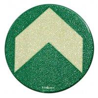 Everglow® Bodenmarkierungspfeile, rund - Fluchtwegkennzeichnung, bodennah, langnachleuchtend, ASR A3.4/3