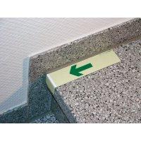 Everglow® Treppenwinkel, Pfeil abwärts - Fluchtwegkennzeichnung, bodennah, langnachleuchtend, ASR A3.4/3