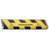 Antirutsch-Treppenprofile, mit Warntext, R13 nach DIN 51130/ASR A1.5/1,2