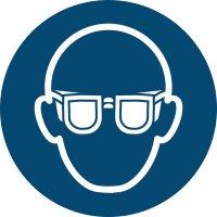 Augenschutz benutzen - Gebotszeichen zur Bodenmarkierung