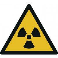 Warnung vor radioaktiven Stoffen - Warnzeichen zur Bodenmarkierung