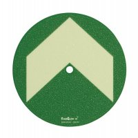 Everglow® Ronden mit Pfeil - Fluchtwegkennzeichnung, bodennah, langnachleuchtend, ASR A3.4/3