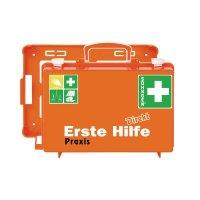 """SÖHNGEN Erste-Hilfe-Koffer """"Direkt"""" - für Praxis mit Text nach Wunsch, DIN 13157"""