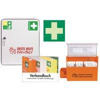 Erste-Hilfe-Schrank-Set für Kindergärten