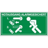 Entriegelung Türwächter links – Kennzeichnung für Türwächter