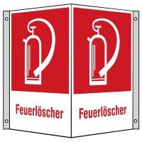 """Brandschutzzeichen-Kombi-Schilder """"Feuerlöscher"""" nach BGV A8, ASR A1.3 und DIN 4844"""