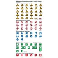 Sicherheits- und Gesundheitsschutzkennzeichnung am Arbeitsplatz - Info-Tafel zur Unterweisung