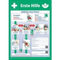 Anleitung zur Ersten Hilfe – Berufsgenossenschaftliche Aushänge