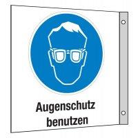Kombi-Schilder mit Gebotszeichen - Fahnen- und Winkelschilder