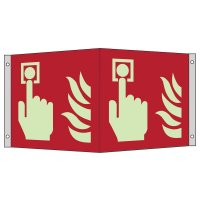 """Internationale Brandschutzzeichen-Schilder """"Brandmelder"""" nach ASR A1.3:2013 und EN ISO 7010"""