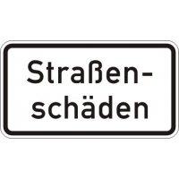 Straßenschäden - Zusatzzeichen für Deutschland, StVO, DIN 67520