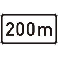 200 m - Zusatzzeichen für Deutschland, StVO, DIN 67520