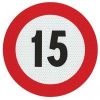 Geschwindigkeitsschilder - Schilder mit km/h Angaben, Rot/Weiß