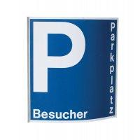 Einschub-Schild für Parkplatzschilder mit Text nach Wunsch, gewölbt, zum Nachkaufen