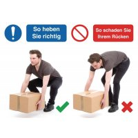 Verhaltensregeln-Schilder