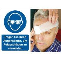 Augenschutz benutzen – Symbolschilder Prävention