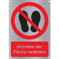 """Kombi-Verbotszeichen-Schilder """"Betreten der Fläche verboten"""" nach EN ISO 7010"""