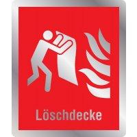 Löschdecke - Brandschutzschilder mit Symbol und Text, ASR A1.3-2013, DIN EN ISO 7010