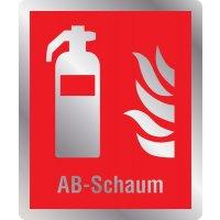 Feuerlöscher AB-Schaum - Brandschutzschilder mit Symbol und Text, ASR A1.3-2013, DIN EN ISO 7010