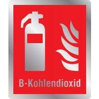 Feuerlöscher B-Kohlendioxid - Brandschutzschilder mit Symbol und Text, ASR A1.3-2013, DIN EN ISO 7010