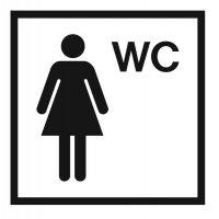 """Symbol-WC-Schilder """"Damen WC"""""""