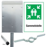 Sammelstellen - Kombischilder-Sets, ASR A1.3-2013, DIN EN ISO 7010