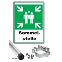 Sammelstellen - Kombischilder-Sets, retroreflektierend, ASR A1.3-2013, DIN EN ISO 7010