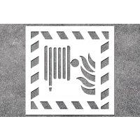 Löschschlauch - Brandschutz-Schablonen zur Boden- und Wandmarkierung