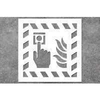 Brandmelder - Brandschutz-Schablonen zur Boden- und Wandmarkierung